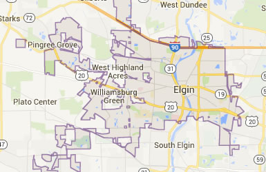 Map of Elgin Township (with current Districts)