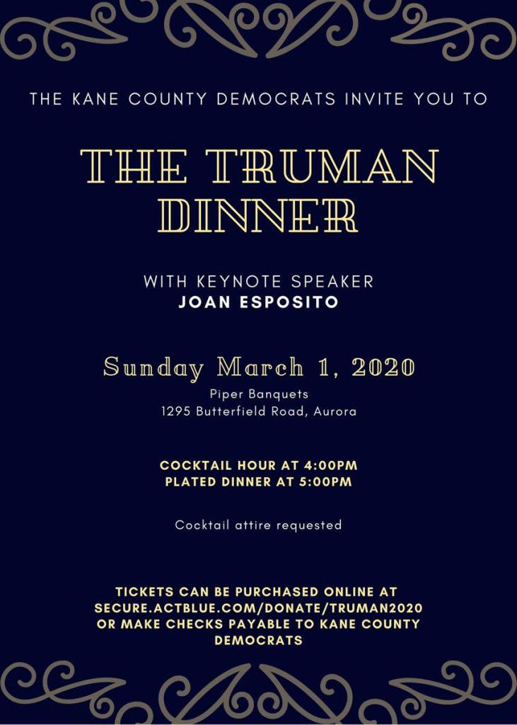 Truman Dinner 2020 invite