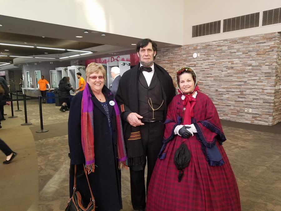 Cherryl Fritz Strathmann with Abe Lincoln