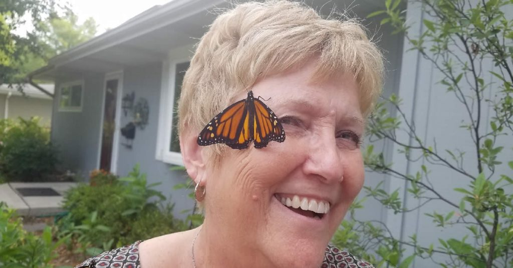Cherryl Fritz Strathmann with Butterfly