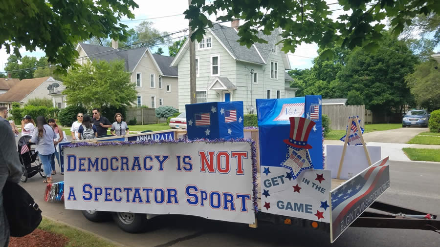 Democracy Is Not a Spectator Sport Float