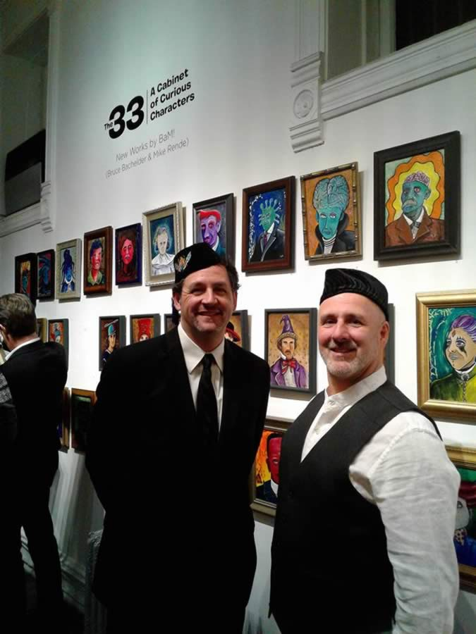 Bruce Bachelder and Mike Rende at Gallery Opening in Chicago