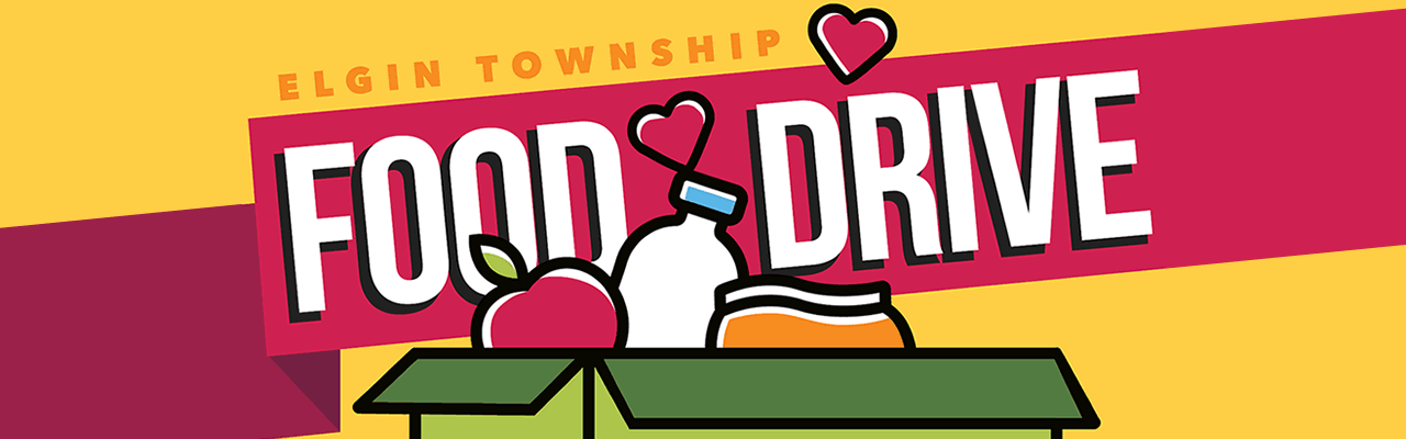 Elgin Township Food Drive Banner