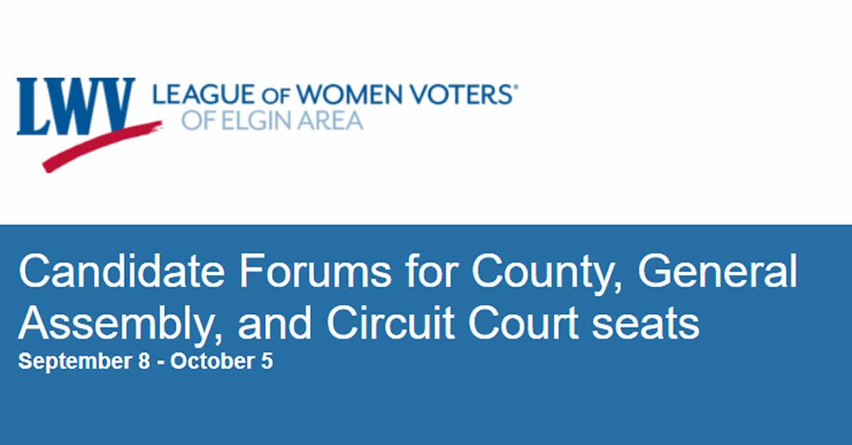 LWV Candidate Forums 2020