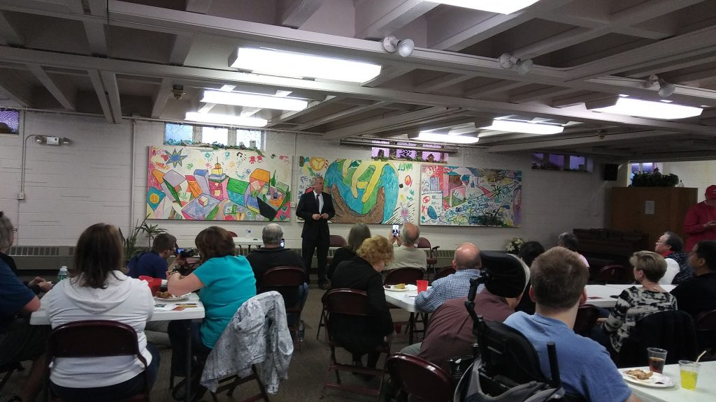 Chris Kennedy talks to the Elgin Dems