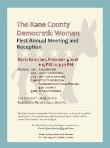 Kane County Democratic Women First Annual Meeting and Reception