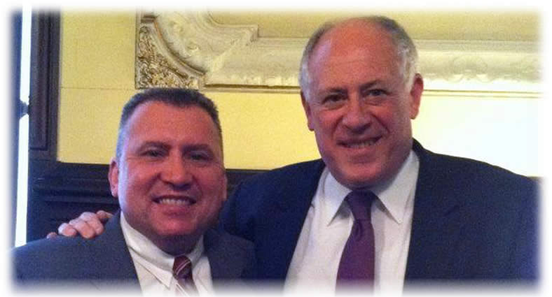 State Central Committeeman Michael Noland and Governor Pat Quinn